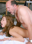 Babe enjoys an older cock inside