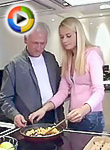 Grandpa pounding her tight pussy