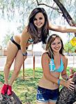 Sexy teen girlfriends stripping for fun