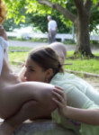 barefoot teen lesbians licking pussy in public