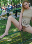cute barefoot teen flashes and fucks a dildo in public